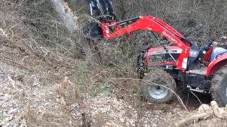 mahindra 4035 pushing down big oak