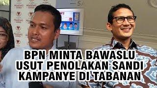 BPN Minta Bawaslu Usut Pelarangan Sandi Kampanye di Tabanan
