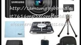 Best price cheap Samsung 8 GB Bundle ST76 16 MP 5X Compact Digital Camera -- Black