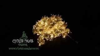 Новогодняя гирлянда теплого свечения, эффект стробоскопа(, 2015-09-29T17:14:42.000Z)