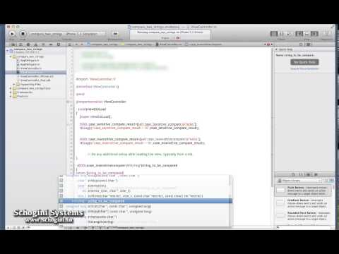 03 19 Case Sensitive And In Sensitive String Comparison In Objective C - IOS Xcode Tutorial Part 03