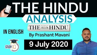 English 9 July 2020 - The Hindu Editorial News Paper Analysis [UPSC/SSC/IBPS] Current Affairs