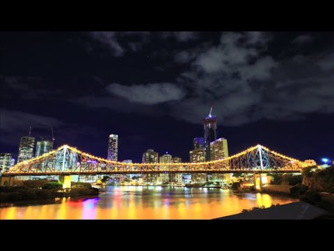 Incredible one-minute time-lapse of Brisbane