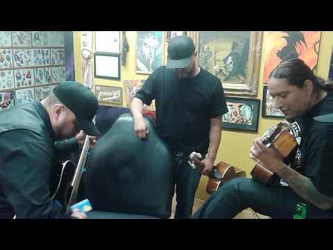 Los Music is at Aggressive Nature Tattoos 2016