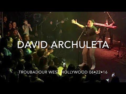 DAVID ARCHULETA CONCERT AT TROUBADOUR IN WEST HOLLYWOOD,CA