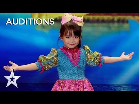 Kid Dancer Zeexhie Makes the Audience Melt With Every Word She Says! | AXN Asia's Got Talent 2019