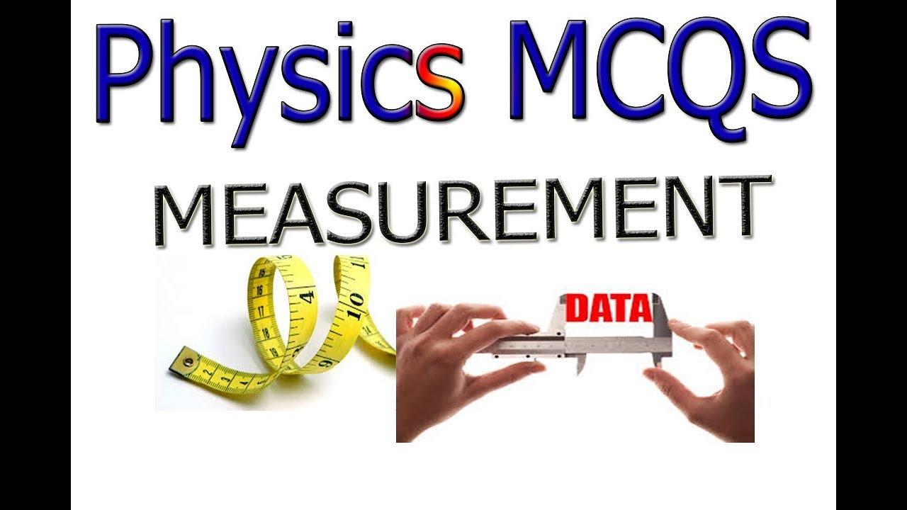 Physics mcqs chapter 1