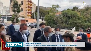 CORONAVIRUS - FIGLIUOLO IN SICILIA PER L'AVVIO DELLA TERZA DOSE DI VACCINO