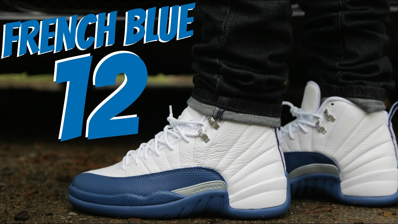 air jordan 12 the master blue and white background