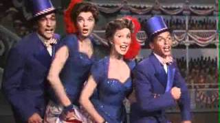 Frank Sinatra, Betty Garrett, Gene Kelly and Esther Williams in Take me out to the ball game 1949