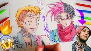 Drawing LIL PEEP in 6 different ART styles using ballpoint pens