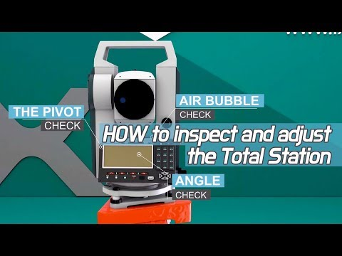 How To Make Inspect And Adjust The Surveying Equipment, Total Station