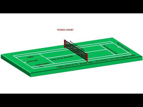 Tennis Court Easy Marking Plan