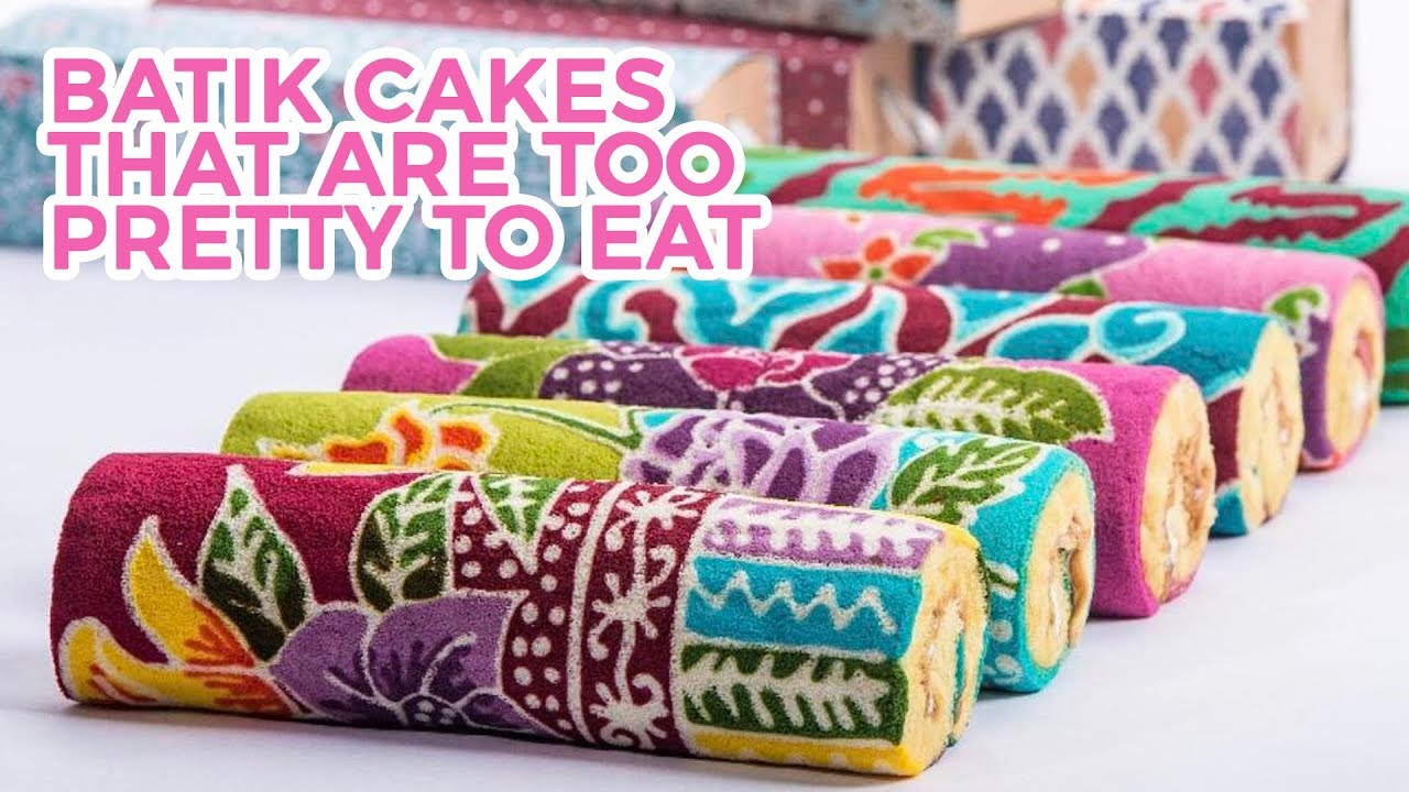 If Batik And Cake Had A Baby It Would Be Batik Rolls Youtube