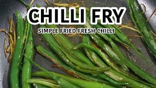 Mirchi Fry - Green Chilli Recipe - Fried green chillies Indian vegan
