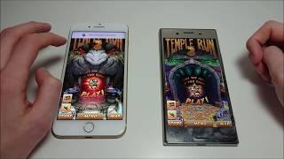 Sony Xperia XZ Premium vs iPhone 7 Plus Speed Test!