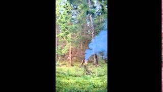 HMTD explosion - 300 grams