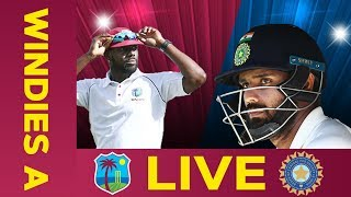 🔴LIVE West Indies A vs India A | Day 2 | Third Test