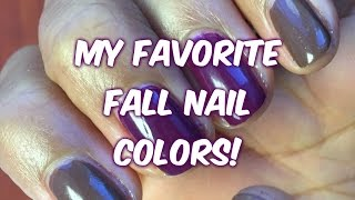 My Favorite Fall Nail Colors  |  CurlyKimmyStar Thumbnail