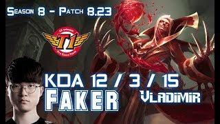 SKT T1 Faker VLADIMIR vs LISSANDRA Mid - Patch 8.23 KR Ranked