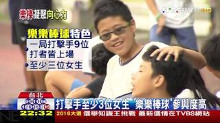 【TVBS】女生也要玩 「樂樂棒球」帶動校園棒球熱
