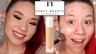 FINALLY Trying FENTY Beauty!   Fenty Beauty Pro Filt'r Soft Matte Longwear Foundation WEAR TEST
