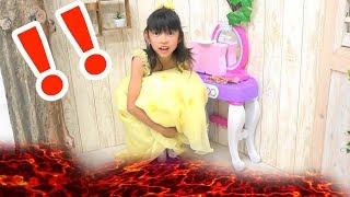 りここ姫のメイクセットを返して!RIKOKO princessマグマ発生★床が溶岩Floor is Lava★にゃーにゃちゃんねるnya-nya channel