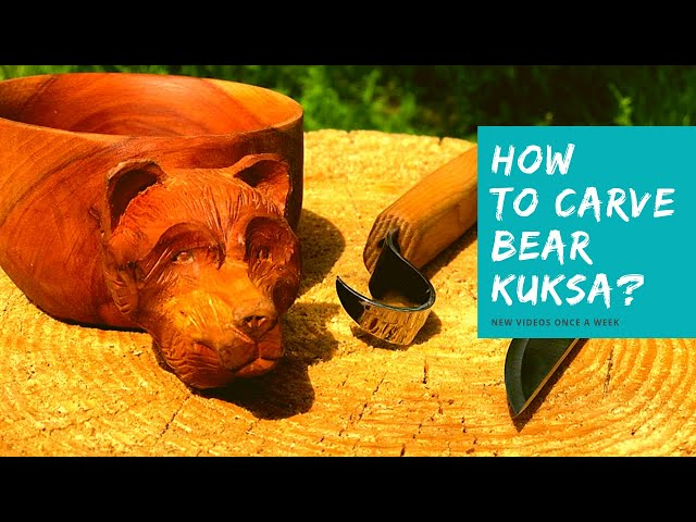 How to Carve Kuksa with Bear Head? 🐻 Easy Wood Carving for Beginners I C7+C4+SK2