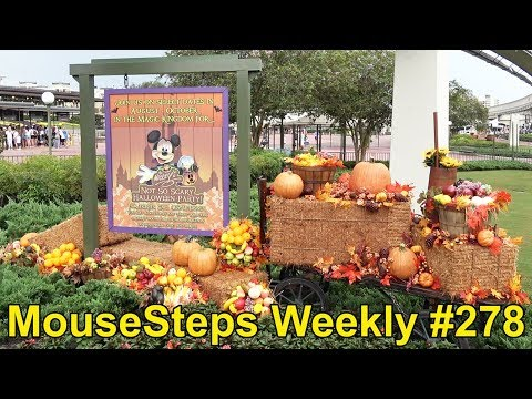 MouseSteps Weekly #278 Magic Kingdom; First Disney Halloween Merchandise; Epcot; The Edison