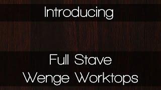 Full Stave Wenge Worktops - Solid Wood Worktops By Worktop Express