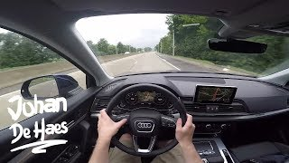 2017 Audi Q5 Sport 2.0 TDI 163 hp S Tronic POV Test drive