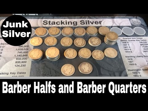 Junk Silver Purchase - Barber Halfs And Barber Quarters