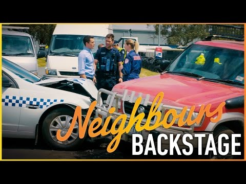 Neighbours Backstage - Paige's Car Crash