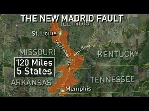 Mississippi River going dry ABOVE New Madrid Fault - Crack in ground?