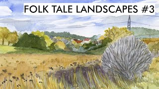 Folk Tale Landscapes - Autumn Fields (#3)