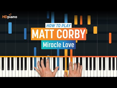 """How To Play """"Miracle Love"""" by Matt Corby  piano Part 1 Piano Tutorial"""