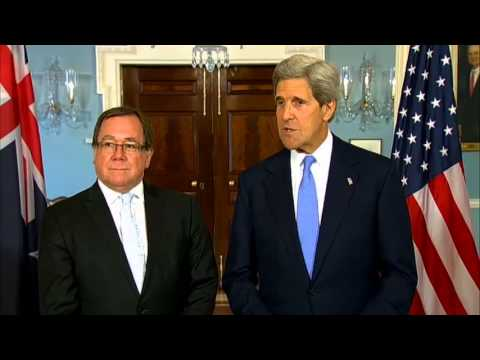 Secretary Kerry Delivers Remarks With Foreign Minister of New Zealand McCully