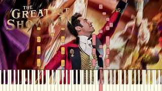 """The Greatest Showman - """"Come Alive"""" [Piano Tutorial] (Synthesia)"""