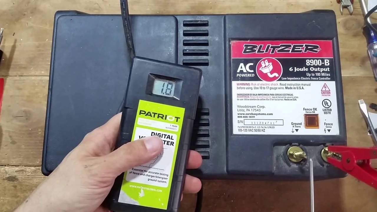 Blitzer 8900 B Electric Fence Controller Youtube