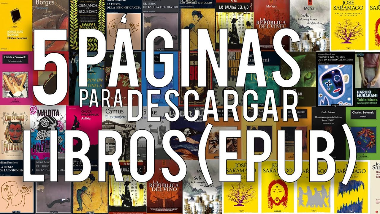LAS 5 MEJORES PÁGINAS PARA DESCARGAR LIBROS GRATIS [ePub