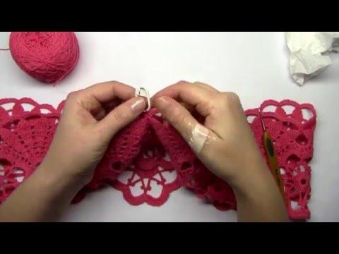 Вязание крючком элегантное платье