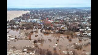 Великий Устюг Наводнение 2016 Обзор с квадрокоптера 16.04.2016