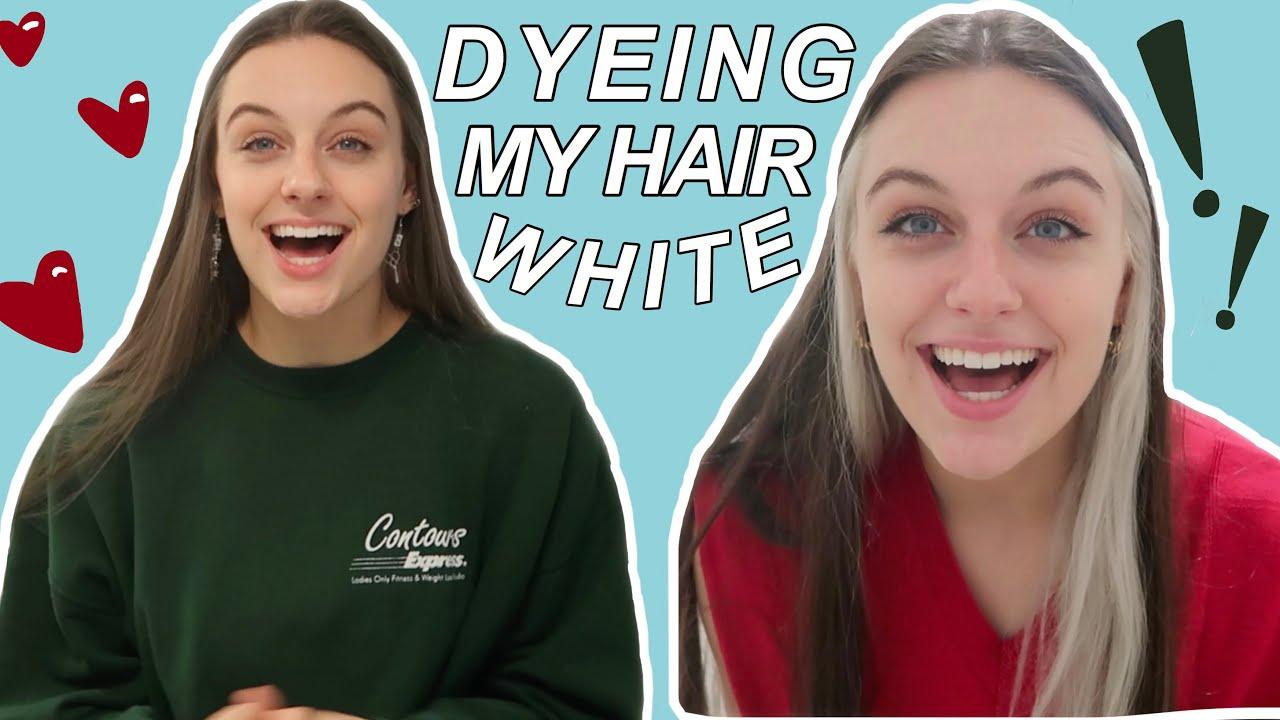 DYEING MY HAIR WHITE (narcissa malfoy type beat) - YouTube
