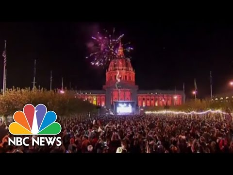 Giants Fans Celebrate World Series Win   NBC News