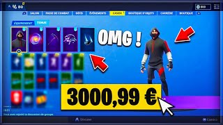 VOICI MY FORTNITE MORE CHER at 3000.99 and I have this SKIN... 😱