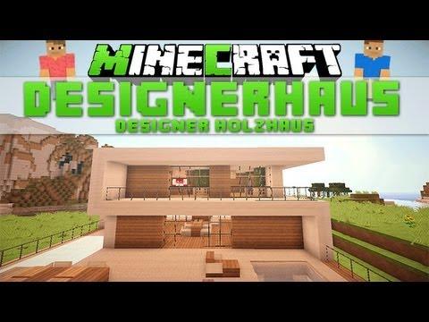 Minecraft geb ude 8 designer holzhaus download youtube for Minecraft holzhaus