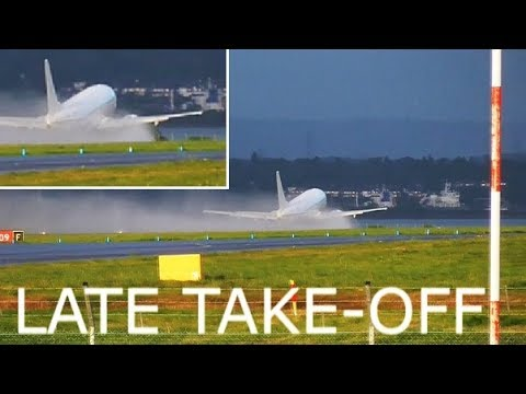 SPECTACULAR LATE TAKE-OFF | Go2Sky | OM-GTB | B737-49R at Liverpool Airport | RWY27
