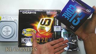 intel Core i3 8100 GIGABYTE H310M S2 2.0 4GB DDR4 Seagate HDD Office PC Build 2019