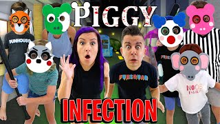 Roblox PIGGY INFECTION Mode IN REAL LIFE (Everyone Is Infected) with The NOOB Family