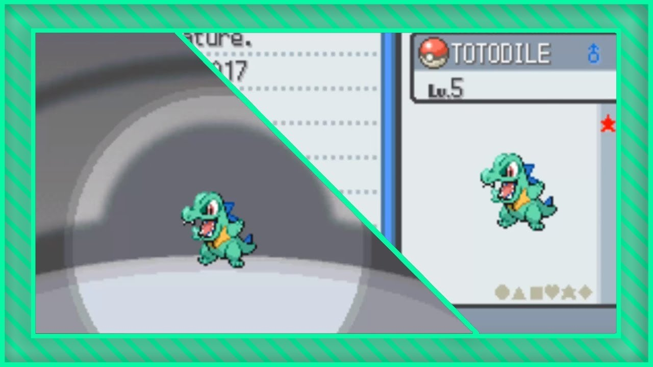 Live Shiny Totodile After Only 386 Srs In Soulsilver Youtube Between you and me, i have a shiny feraligatr in my black 2. live shiny totodile after only 386 srs in soulsilver